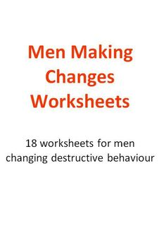 Men Making Changes Worksheets